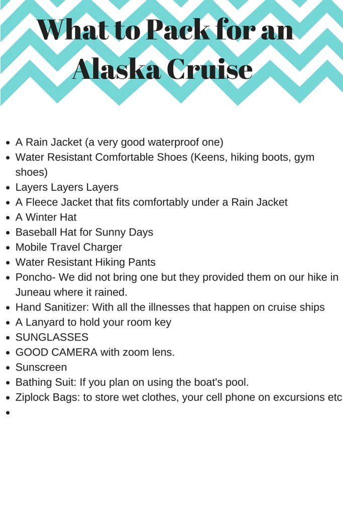 What To Pack For A Cruise is vital, especially when you are going to enjoy a fun-filled Alaska Cruise! Check out our packing list for tips on what you need!