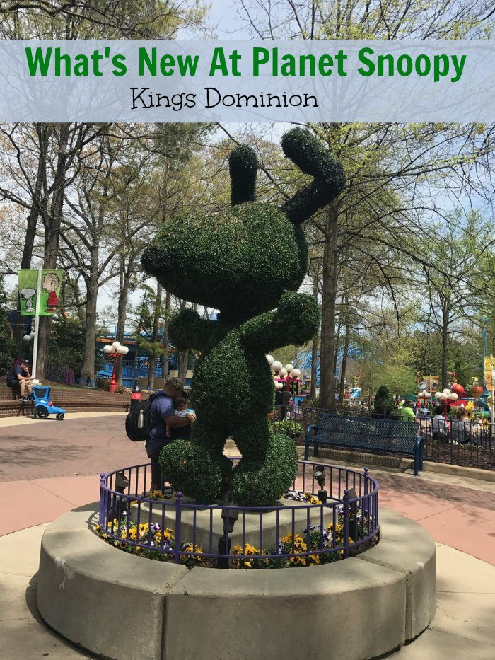 What's new at Kings Dominion Planet Snoopy kid