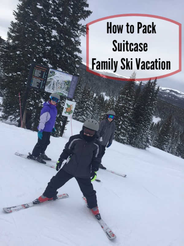 what to pack family ski vacation