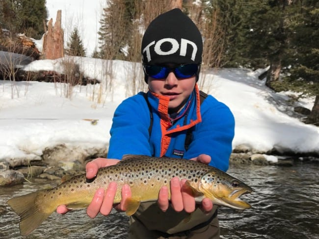 fly fishing in Big Sky Winter